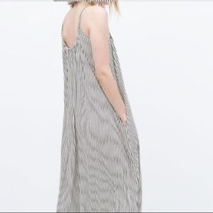 Zara Black & White Stripe Maxi